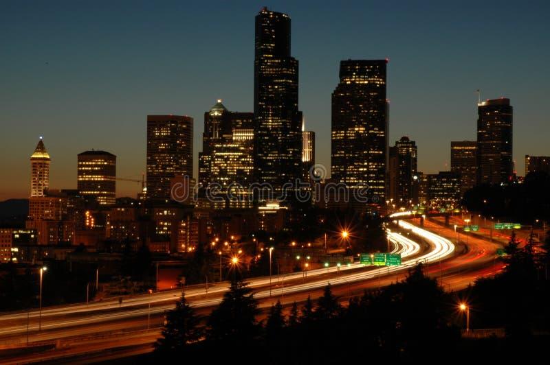 5 i晚上西雅图 免版税库存照片