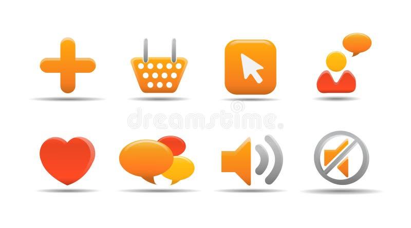 5 ikon serii dyniowego postawił sieci obrazy stock