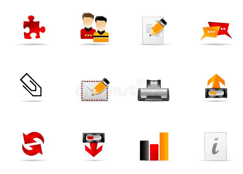 5 ikony internetów melo ustalona strona internetowa ilustracji