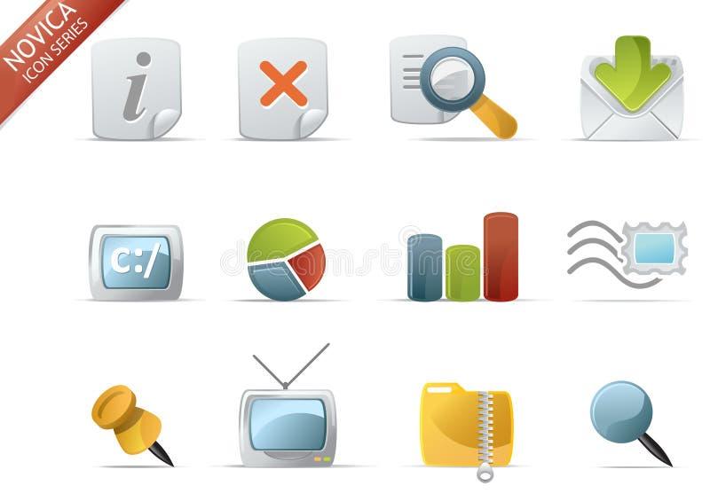 5 ikony novica serii sieci ilustracja wektor