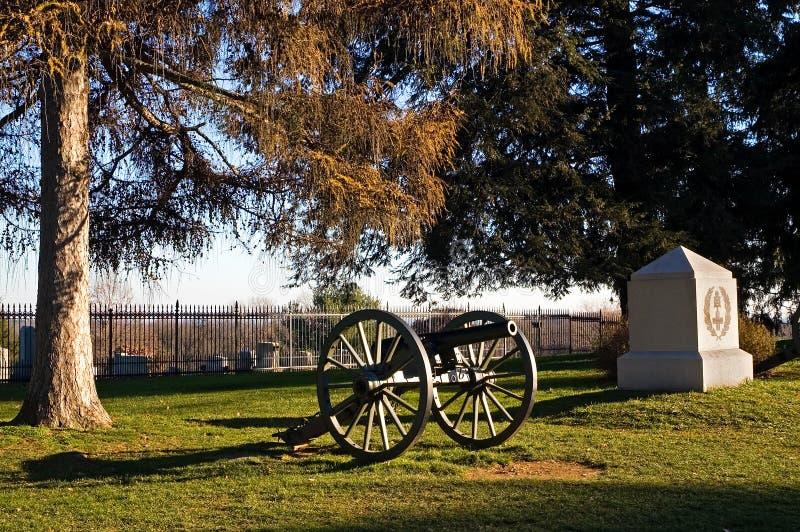 5 kanon gettysburg royaltyfri bild