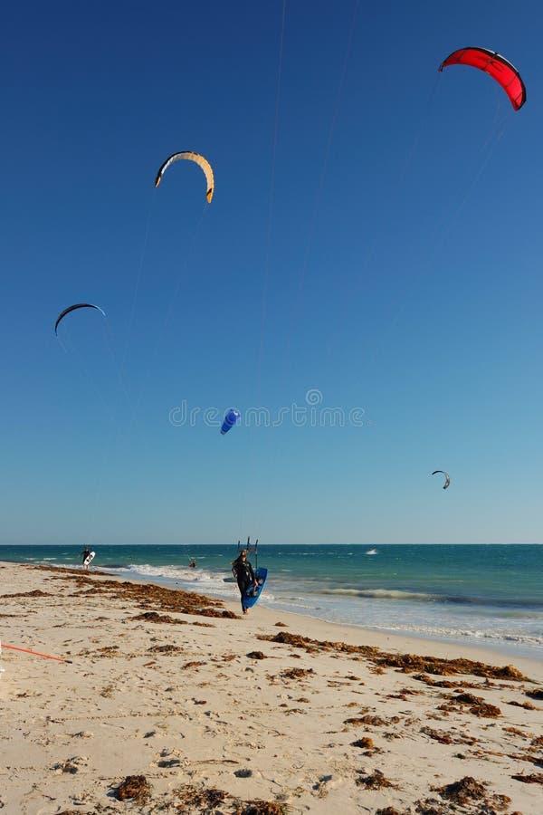 Free 5 Kite Surfers Royalty Free Stock Photo - 2296035