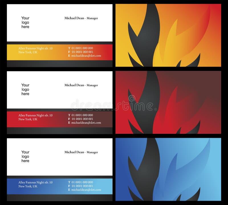 5 kort sid två som vising vektor illustrationer