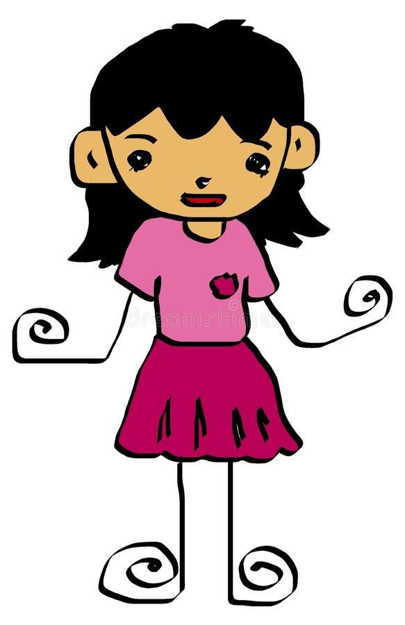 5 kreskówek dzieciak ilustracji