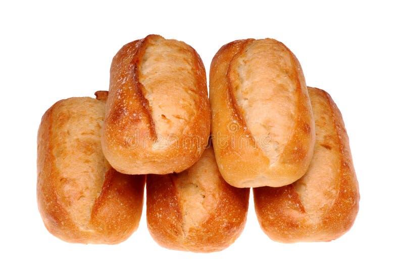5 Laibe Brot stockfoto