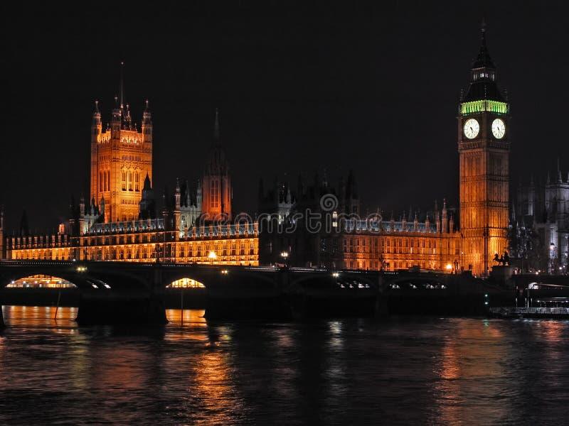 5 London miast nocy scena zdjęcie stock