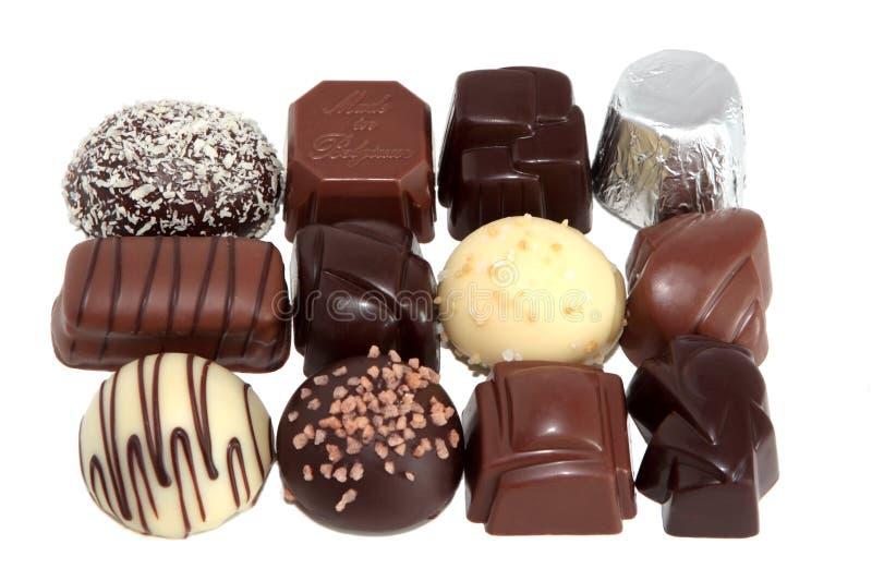 5 lyxiga choklader arkivfoton