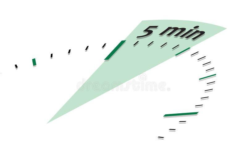 5 minuter stock illustrationer