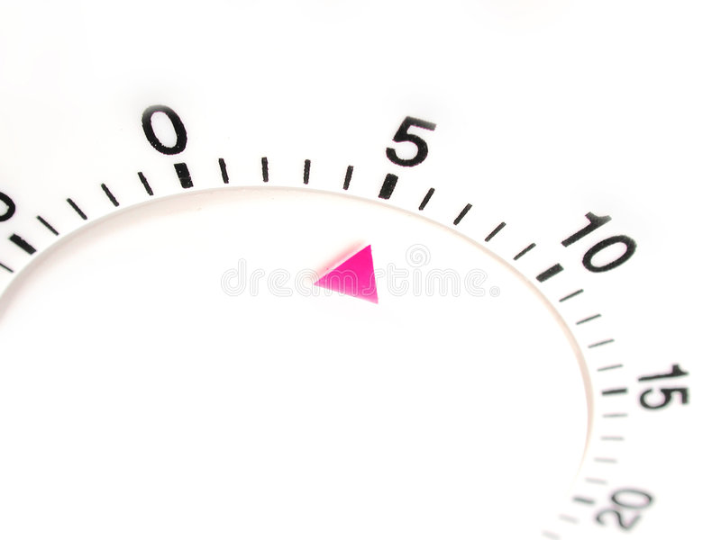 5 Minutes On Timer Royalty Free Stock Image - Image: 643876