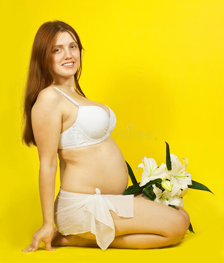 Download 5 Months Pregnant Woman Stock Photo - Image: 16026260