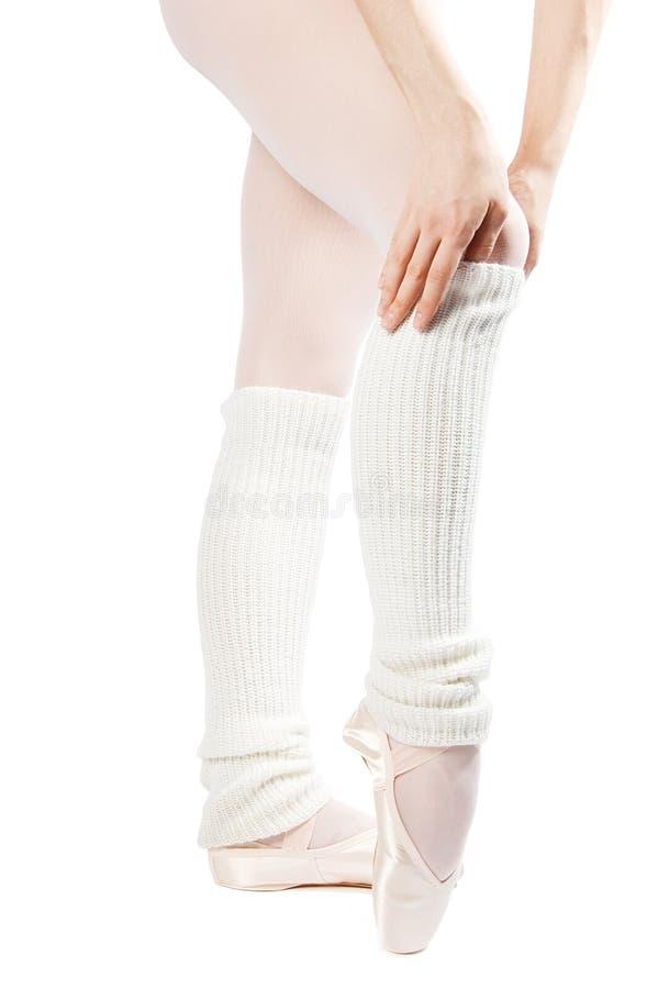 5 nogi baletniczych butów obraz royalty free