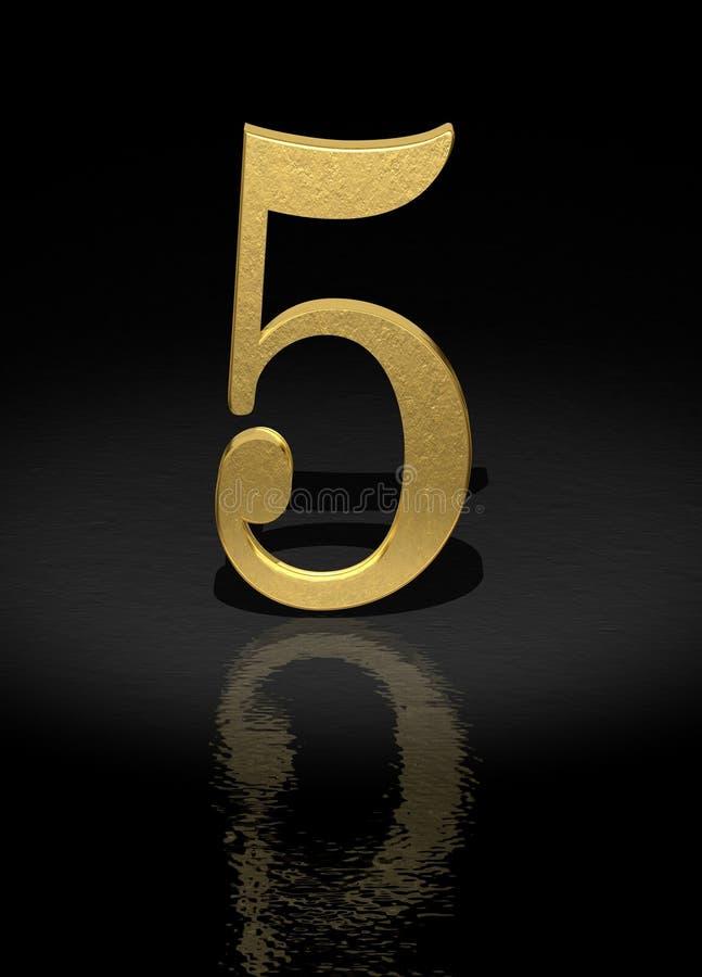 5 numerów royalty ilustracja