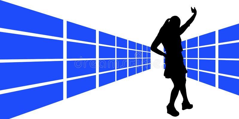 5 obrazkowa kobieta ilustracja wektor