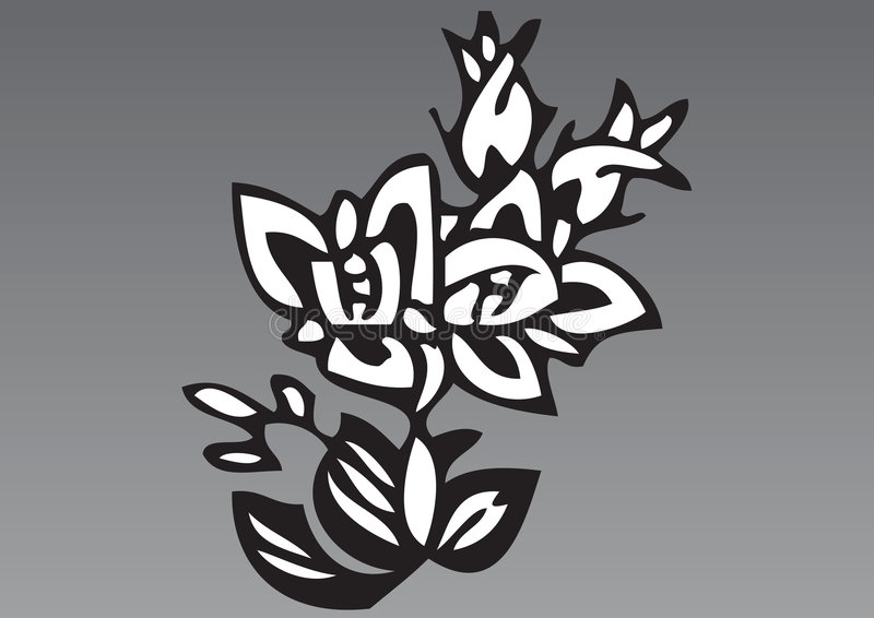 5 patroszona kwiatów ręka ilustracja wektor