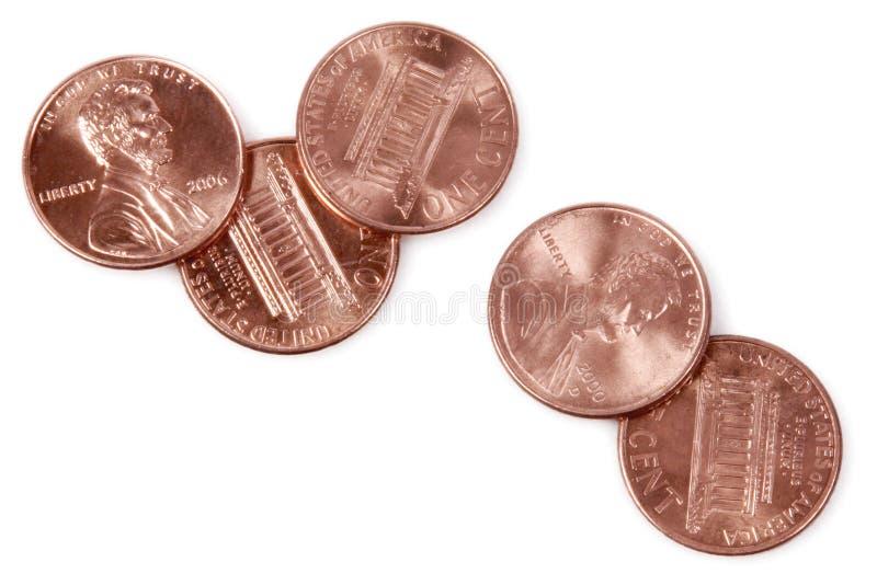 5 penny photographie stock libre de droits