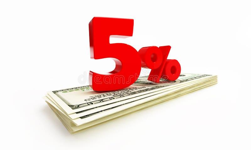 5 per cento royalty illustrazione gratis