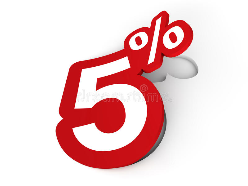 5 Percent Sticker Stock Photography