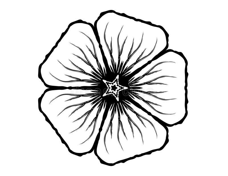 Download 5 Petal Flower Glyph stock illustration. Illustration of round - 4135275