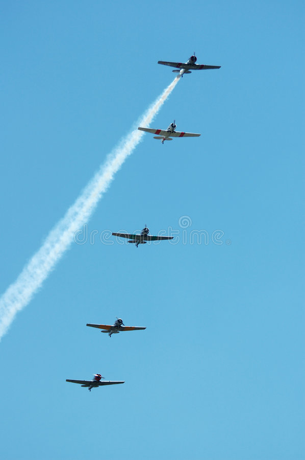 5 Planes royalty free stock images
