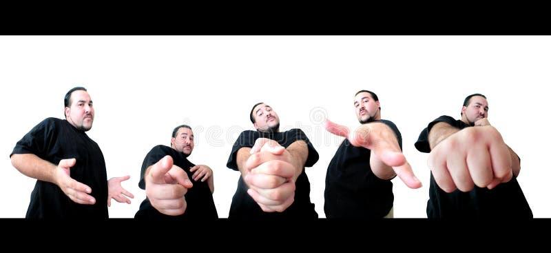 5 pose per voi fotografia stock libera da diritti