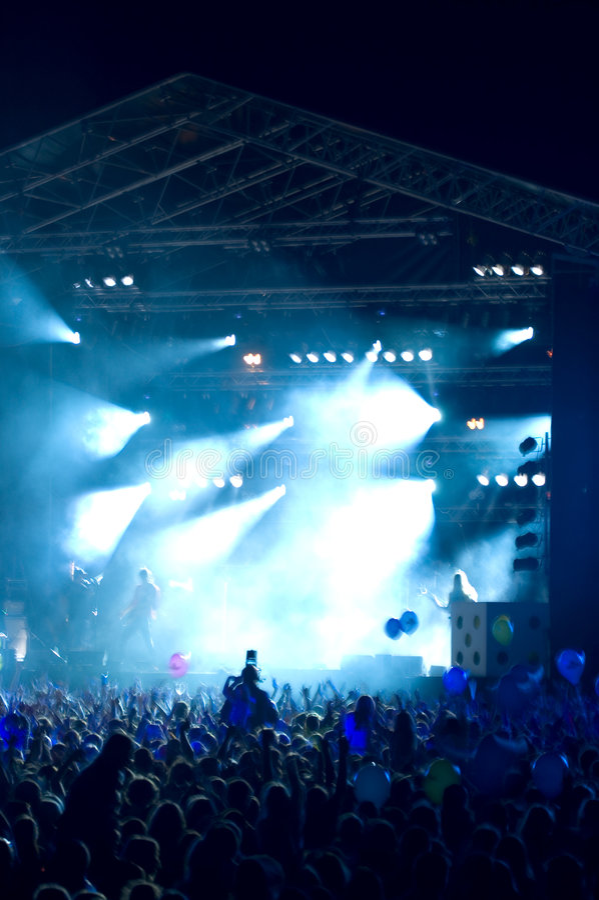 5 rock koncertów fotografia royalty free