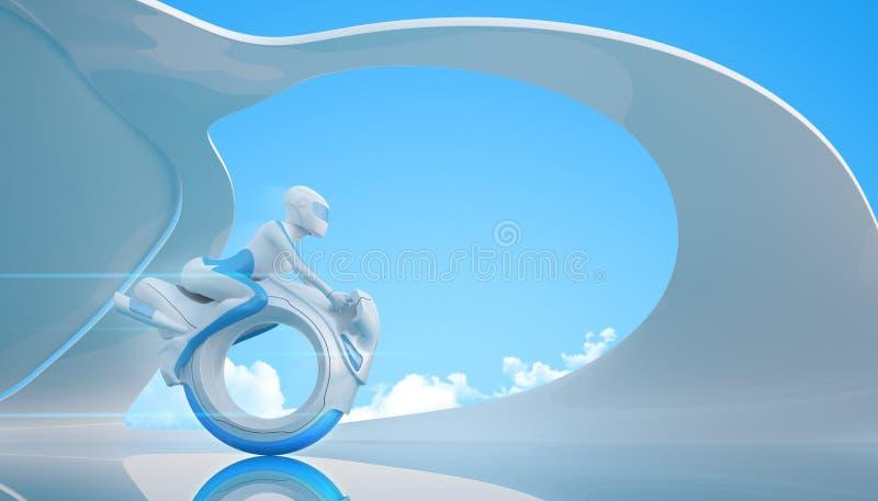 5 rowerów przyszłość ilustracja wektor