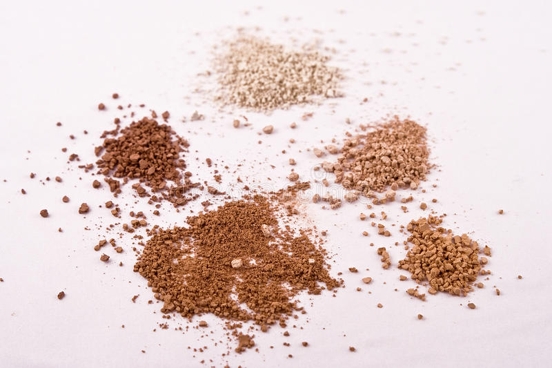 Download 5 Shades Of Mica Mineral Powder Cosmetics Stock Photo - Image: 13005212