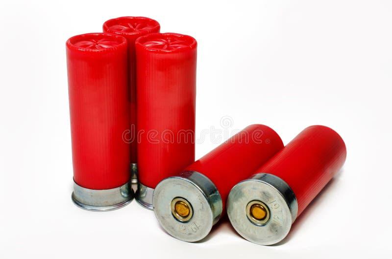 5 Shotgun Shells royalty free stock images