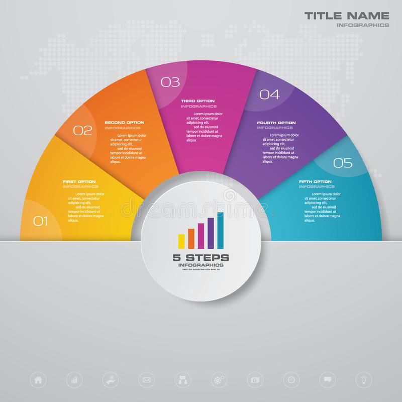 Free 5 Steps Simple&editable Process Chart Infographics Element. Royalty Free Stock Photo - 135967015