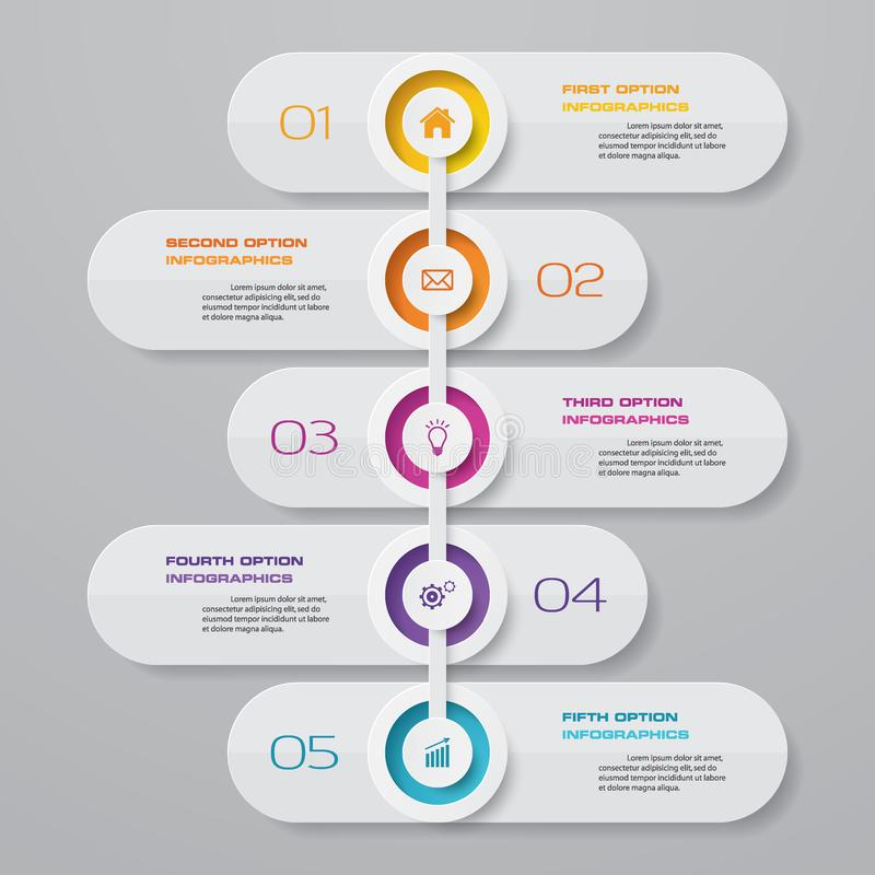 Free 5 Steps Timeline Infographic Element. EPS 10. Royalty Free Stock Image - 145423086