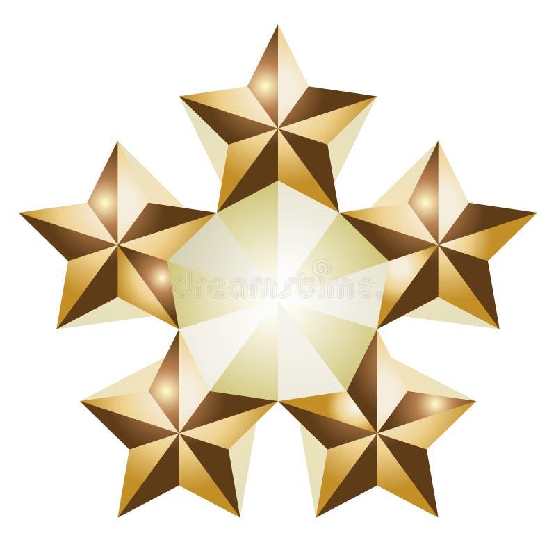 5 sterren royalty-vrije illustratie