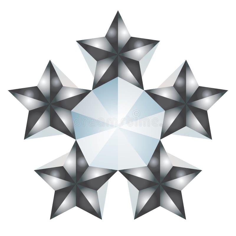 5 stjärnor stock illustrationer