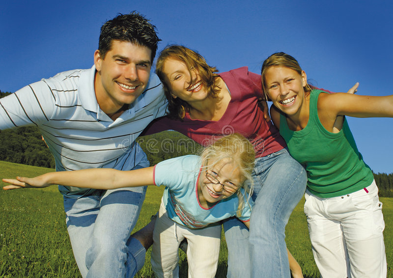 5 szczęśliwe rodzinne fotografia royalty free
