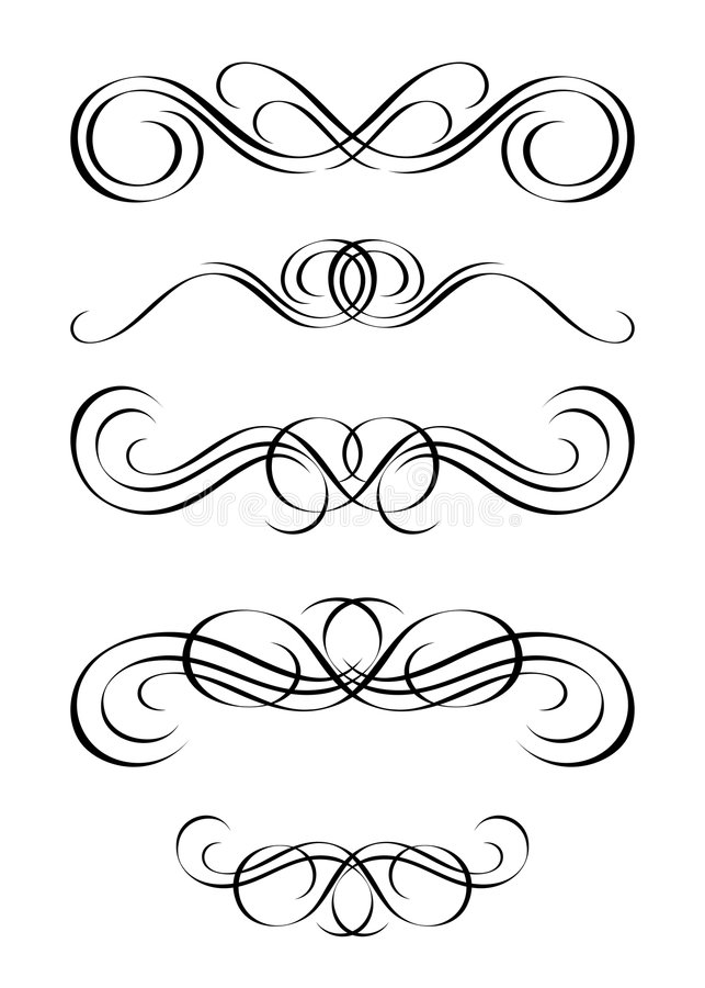 Free 5 Versions Of Abstract Ornamen Royalty Free Stock Photo - 5907805