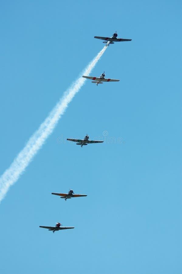 5 vliegtuigen royalty-vrije stock afbeeldingen