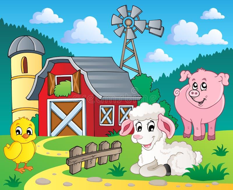 5 wizerunku rolny temat royalty ilustracja