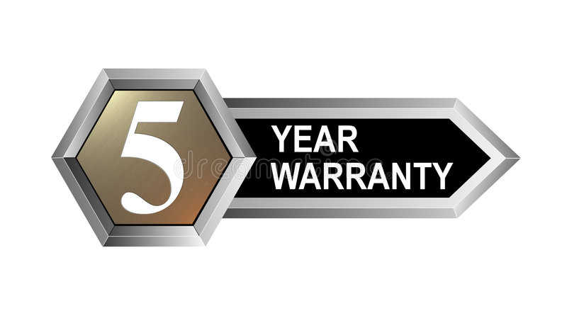 5 Year Warranty Key Royalty Free Stock Image
