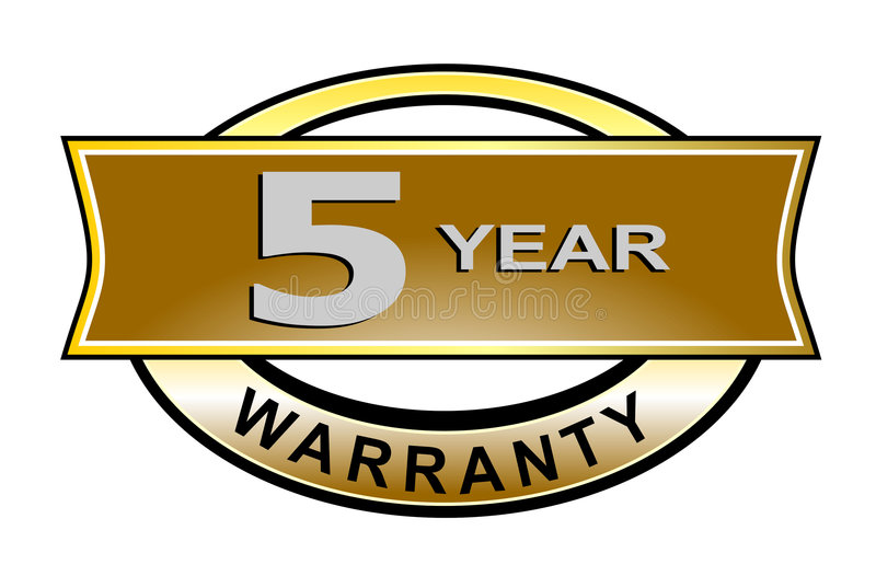 Download 5 year warranty seal belt stock illustration. Illustration of consumer - 3352401
