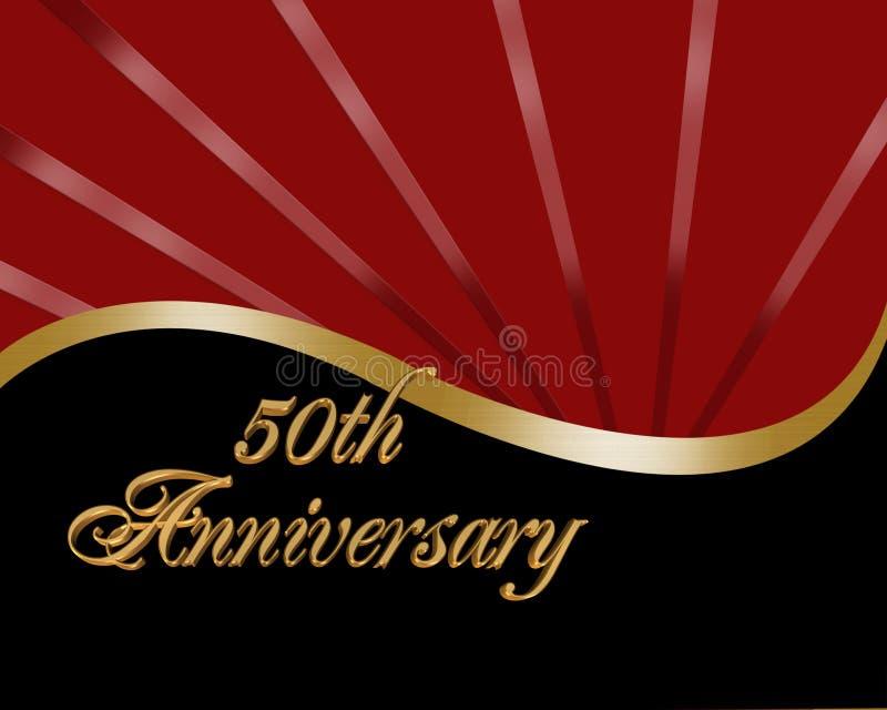 50ή πρόσκληση επετείου ελεύθερη απεικόνιση δικαιώματος