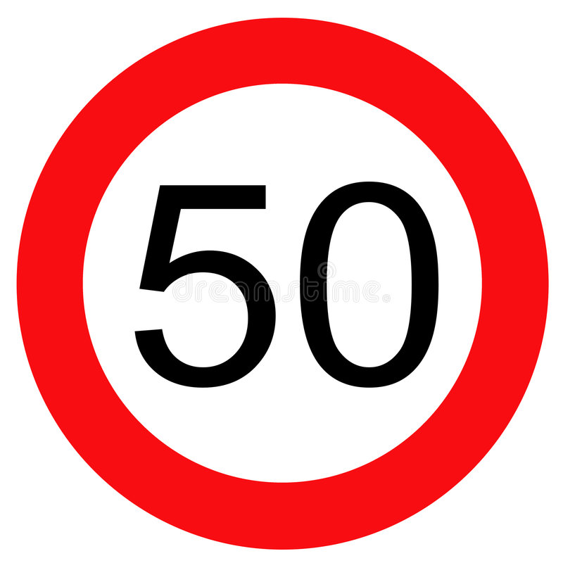 50个符号业务量 库存例证