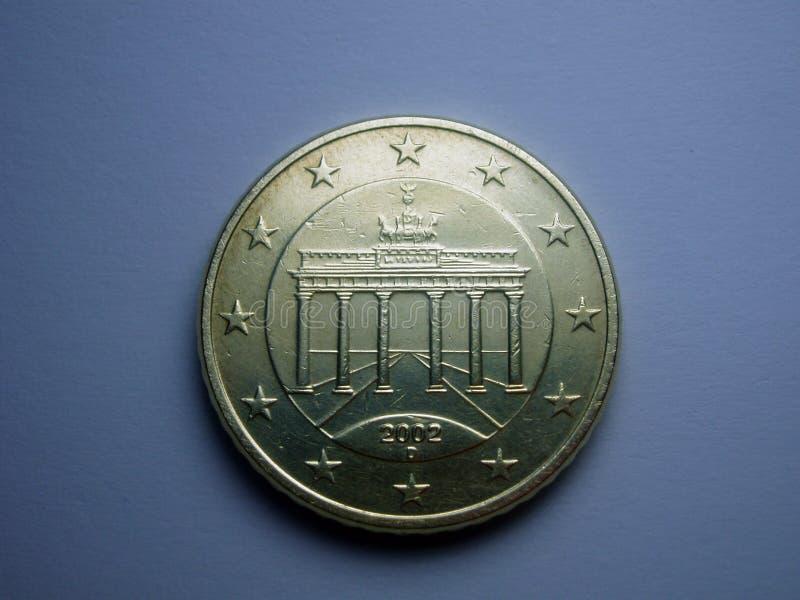 50分欧元 库存图片