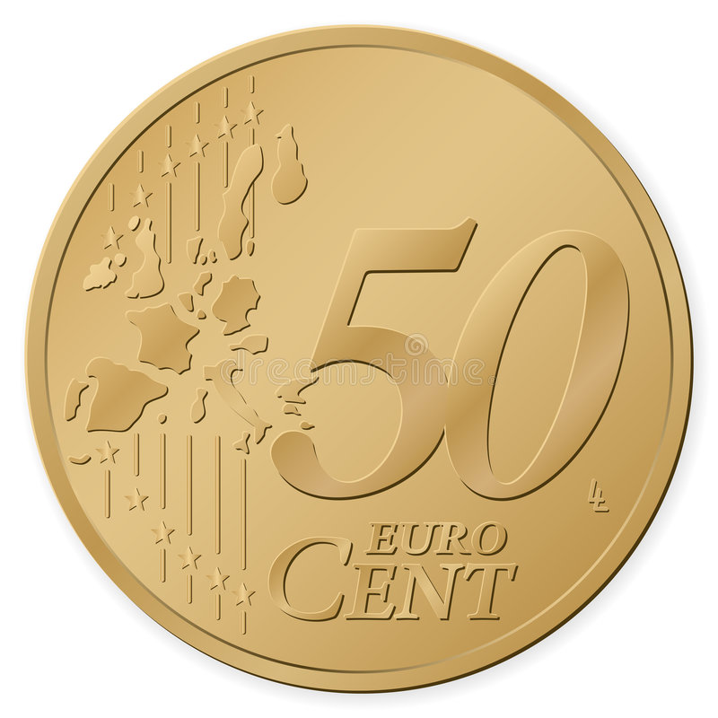 50分欧元 库存例证