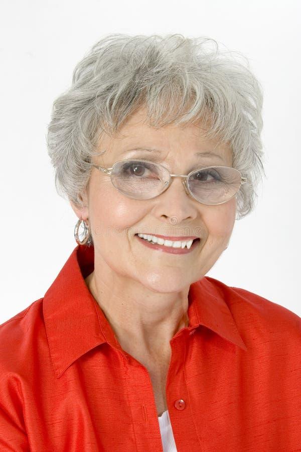 50美好的老妇人年 免版税库存照片