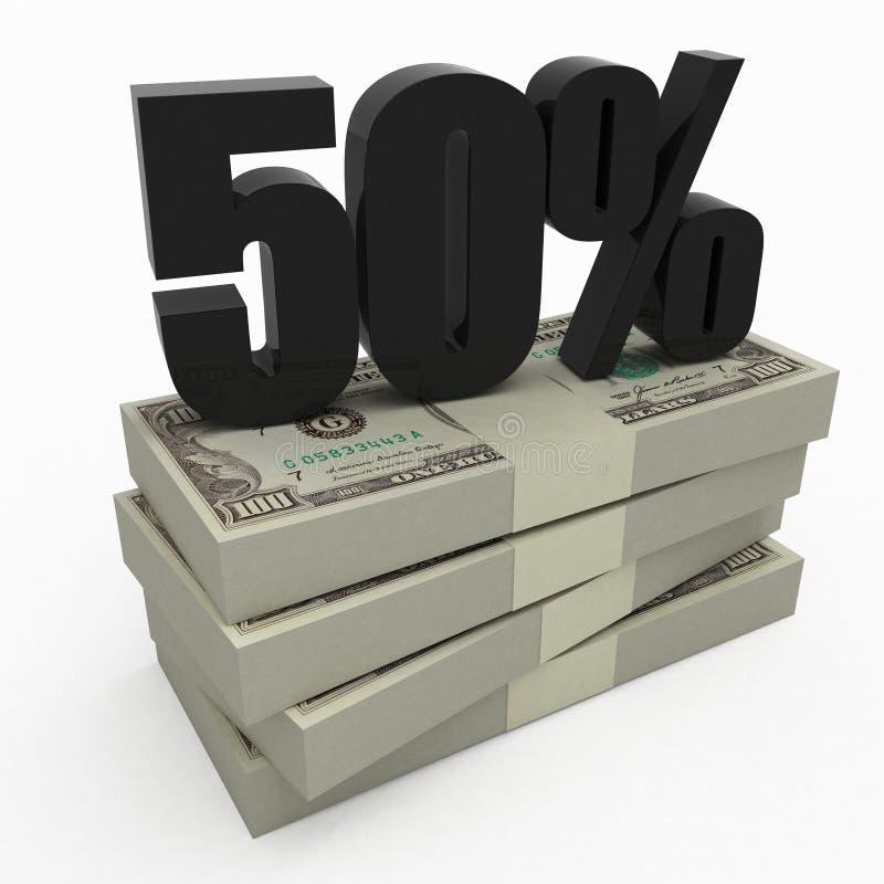 50货币 库存例证