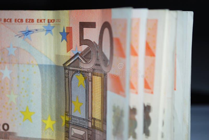50 ευρώ λογαριασμών στοκ φωτογραφίες