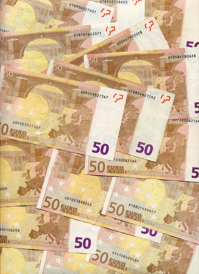 50 ευρώ λογαριασμών στοκ εικόνες