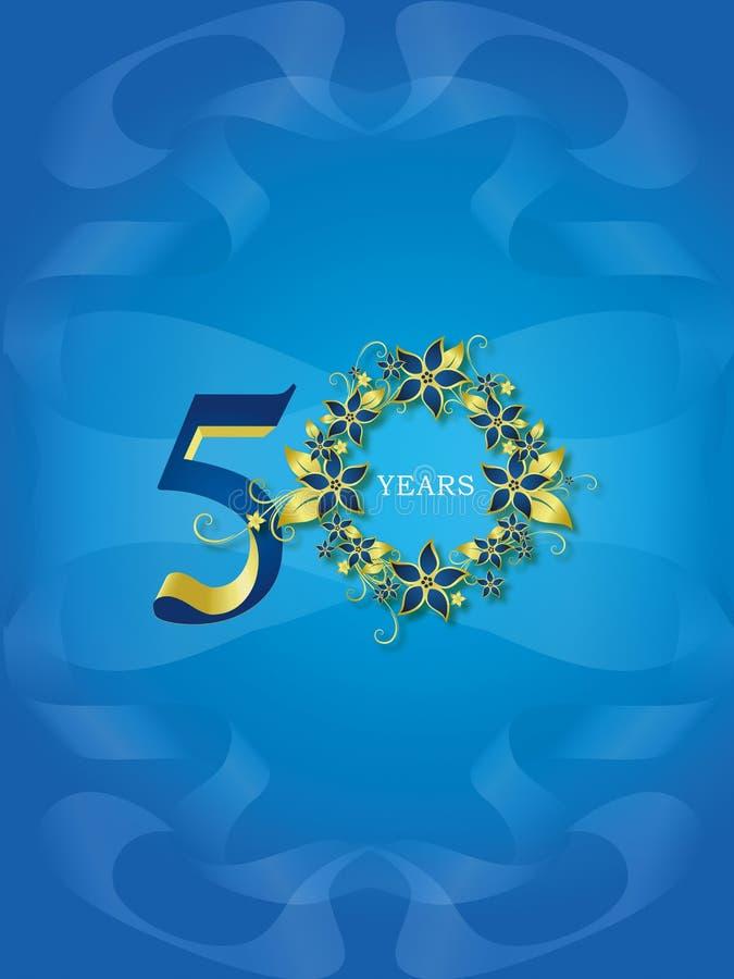 50 χρυσά έτη ιωβηλαίου ελεύθερη απεικόνιση δικαιώματος