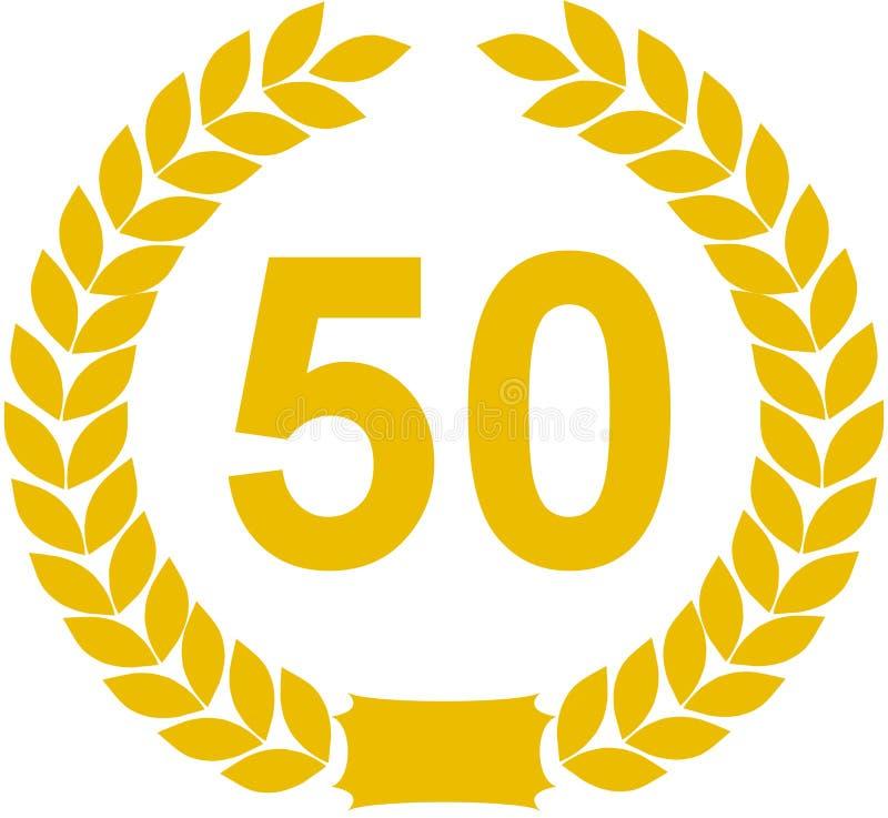 50 лет лаврового венка иллюстрация вектора
