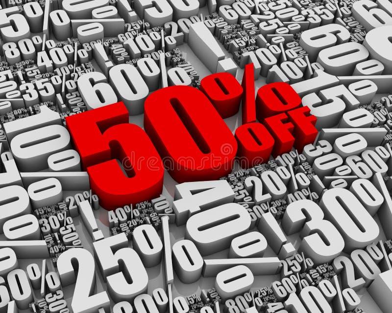 50 с сбывания иллюстрация вектора