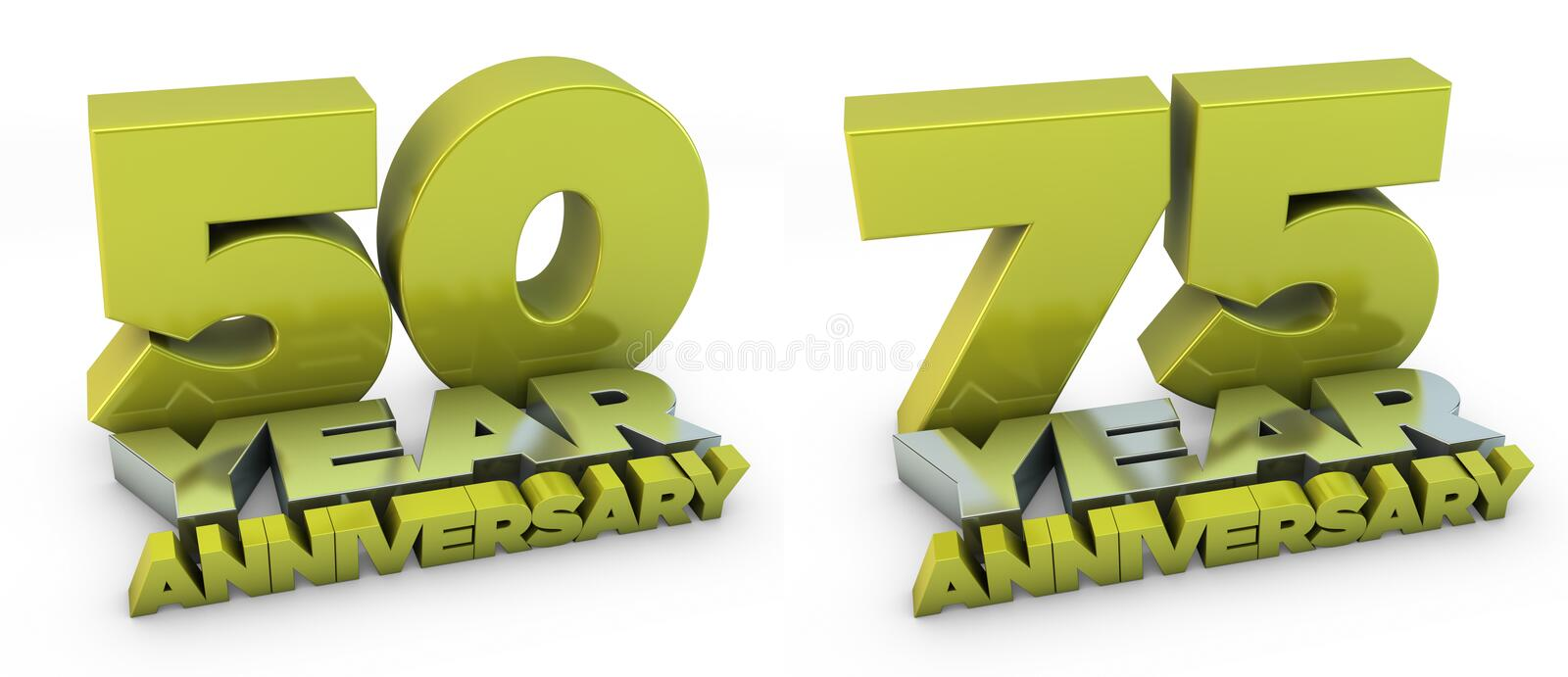 Download 50 And 75 Year Anniversary Stock Photography - Image: 14383622